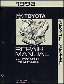 1993 Toyota Automatic Transmission Repair Shop Manual Celica GT/GT-S MR2 Paseo