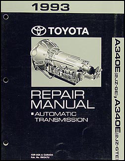 1993 Toyota Supra Automatic Transmission Repair Manual Original