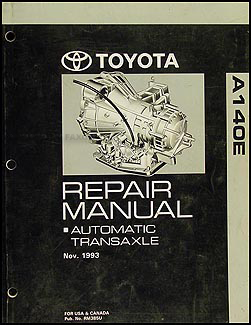 1994-2001 Toyota 4 Cyl. Camry, Celica, Solara Auto Transmission Manual