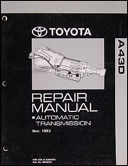 1994-2004 Toyota Tacoma and Truck 2WD 4 Cyl. Automatic Transmission Manual