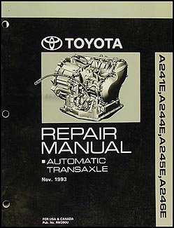 1994-2002 Automatic Transmission Repair Manual Celica MR2 Paseo Corolla Rav4