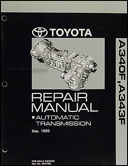 1996-2004 Toyota 4WD Auto Transmission Overhaul Manual A340F A343F
