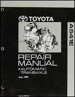 2000-2005 Toyota Avalon Automatic Transmission Overhaul Manual Orig.