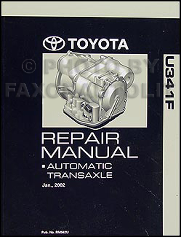 2003-2006 toyota matrix 4wd automatic transmission overhaul manual