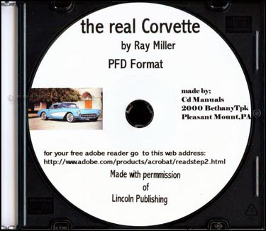 CD of The real CORVETTE A Year-by-Year History 1953-1975 by Ray Miller